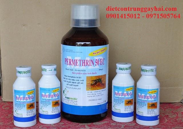 PERMETHRIN 50EC- Dịch Treo Đậm Đặc Diệt Ruồi, Muỗi, Kiến, Gián